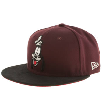 New Era Burgundy Disney Goofy 9fifty Caps and Hats