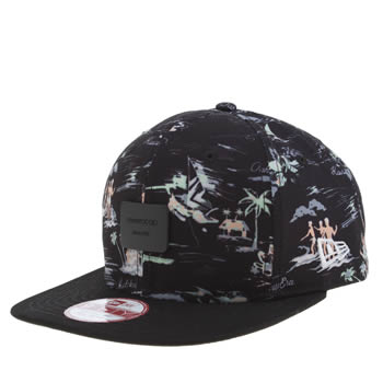 New Era Black & White 9fifty Offshore Crown Patch Caps and Hats