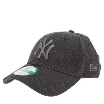 New Era Dark Grey Jersey Fleck Ny 9forty Adults Hats