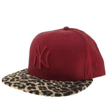 New Era Red Ny Yankees Leopard 9fifty Caps and Hats