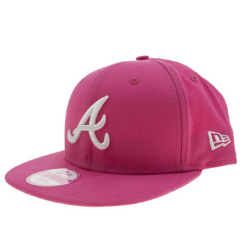 Accessories New Era Pink Atlanta Braves 59fifty Caps and Hats