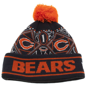 Accessories New Era Navy & Orange Kids Chicago Bears Winter Off Caps and Hats