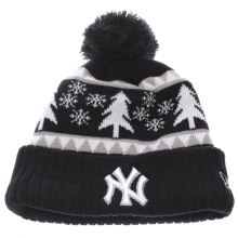 New Era Navy Kids Ny Team Snow Pine Cuff Caps and Hats
