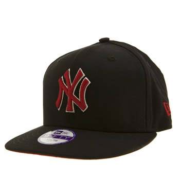 New Era Black & Red Ny Yankees Pop 9fifty Caps and Hats