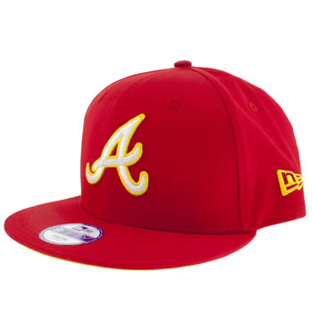 accessories new era red atlanta braves 9fifty