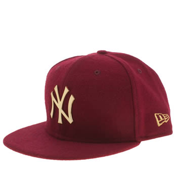New Era Burgundy L Mel Snap Ny 9fifty Adults Hats