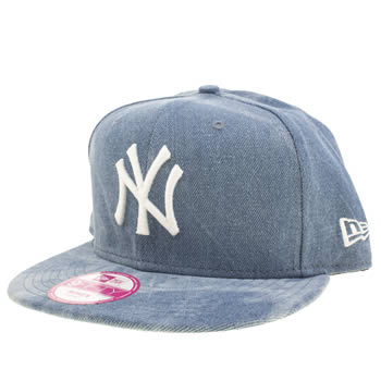 New Era Blue New York Summer Wash 9fifty Caps and Hats