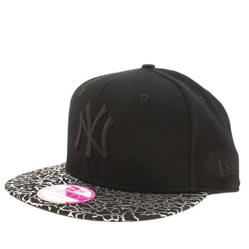 New Era Black & Silver Ny Cracked Foil 9fifty Caps and Hats