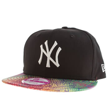 New Era Black & pink Ny Yankees Snake 9fifty Caps and Hats