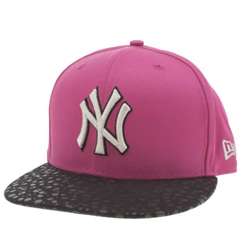New Era Black & pink New York Yankees Speckle Snap Caps and Hats