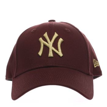 New Era Weinrot Essential 9Forty Ny Caps und Hüte