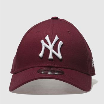 New Era Burgundy Essential 9Forty Ny Yankees Caps and Hats