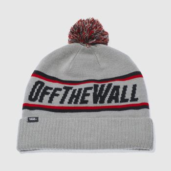 Vans Grey Off The Wall Pom Beanie Caps and Hats