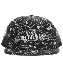 Vans Black & White Classic Trucker Peanuts Caps and Hats