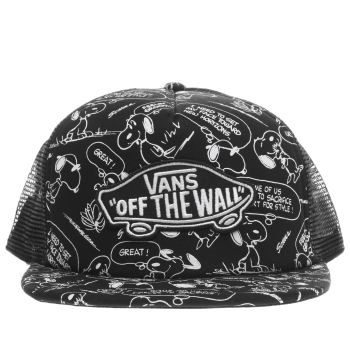 Vans Black Classic Trucker Peanuts Caps and Hats