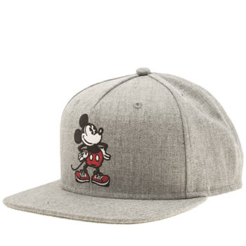 Vans Light Grey Mickey Mouse Snapback Adults Hats
