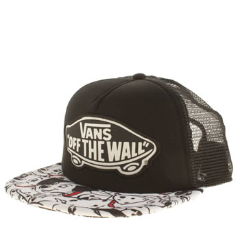 Vans Black & White Disney Trucker Dalmatians Caps and Hats