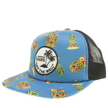 Vans Blue & Yellow Surf Patch Trucker Caps and Hats