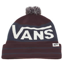 Vans Burgundy Rah Rah Yeah Beanie Caps and Hats