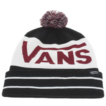 Vans Black & White Rah Rah Yeah Beanie Caps and Hats