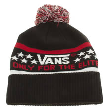 Vans Black & Red Elite Beanie Caps and Hats