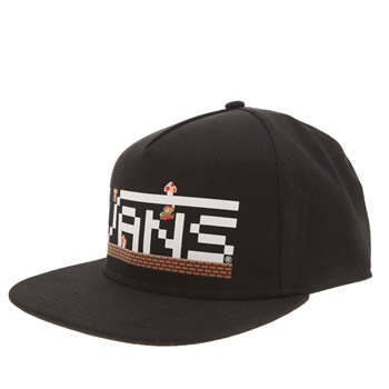 Vans Black & White Mario Nintendo Snapback Caps and Hats