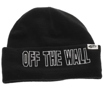 Vans Black BREAKIN CURFEW BEANIE Caps and Hats