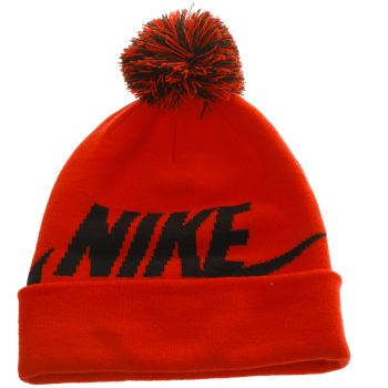 ACCESSORIES NIKE RED KIDS BEANIE POM