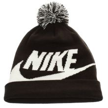 Nike Black & White Kids Beanie Pom Caps and Hats