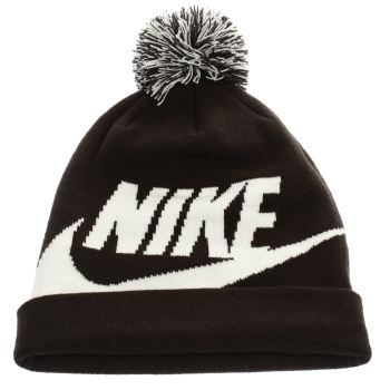 Nike Black Kids Beanie Pom Caps and Hats