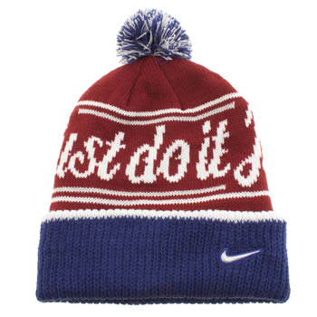 Nike Burgundy Beanie Pom Caps and Hats