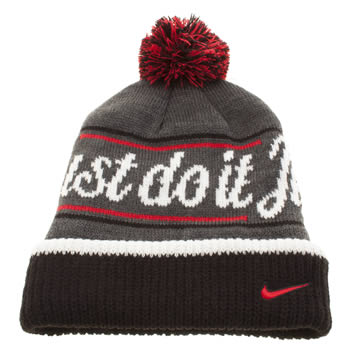 Nike Dark Grey Beanie Pom Caps and Hats