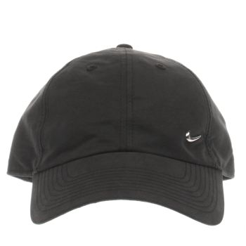 Nike Black Metal Swoosh Cap Caps and Hats