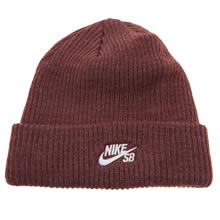 Nike Sb Burgundy Fisherman Beanie Caps and Hats