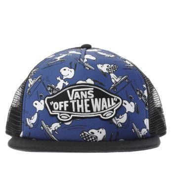 Vans Navy Peanuts Trucker Patch Caps and Hats