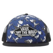 Vans Navy & White Kids Peanuts Patch Trucker Caps and Hats