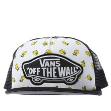 Vans White & Black Peanuts Trucker Woodstock Caps and Hats