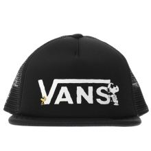 Vans Black & White Kids Peanuts Trucker Caps and Hats