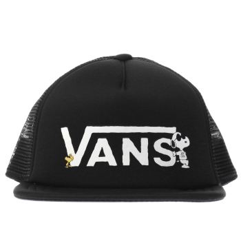 Vans Black Kids Peanuts Trucker Caps and Hats