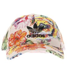Adidas Pale Pink Floral Print Caps and Hats