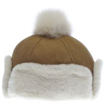 Ugg Australia Tan Heritage Up Flap Hat Caps and Hats