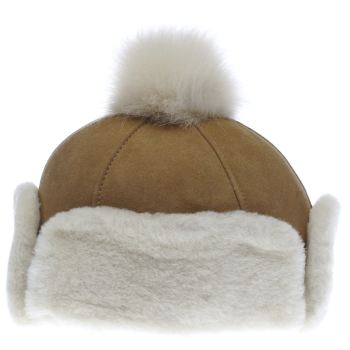 Accessories Ugg Australia Tan Heritage Up Flap Hat Adults Hats