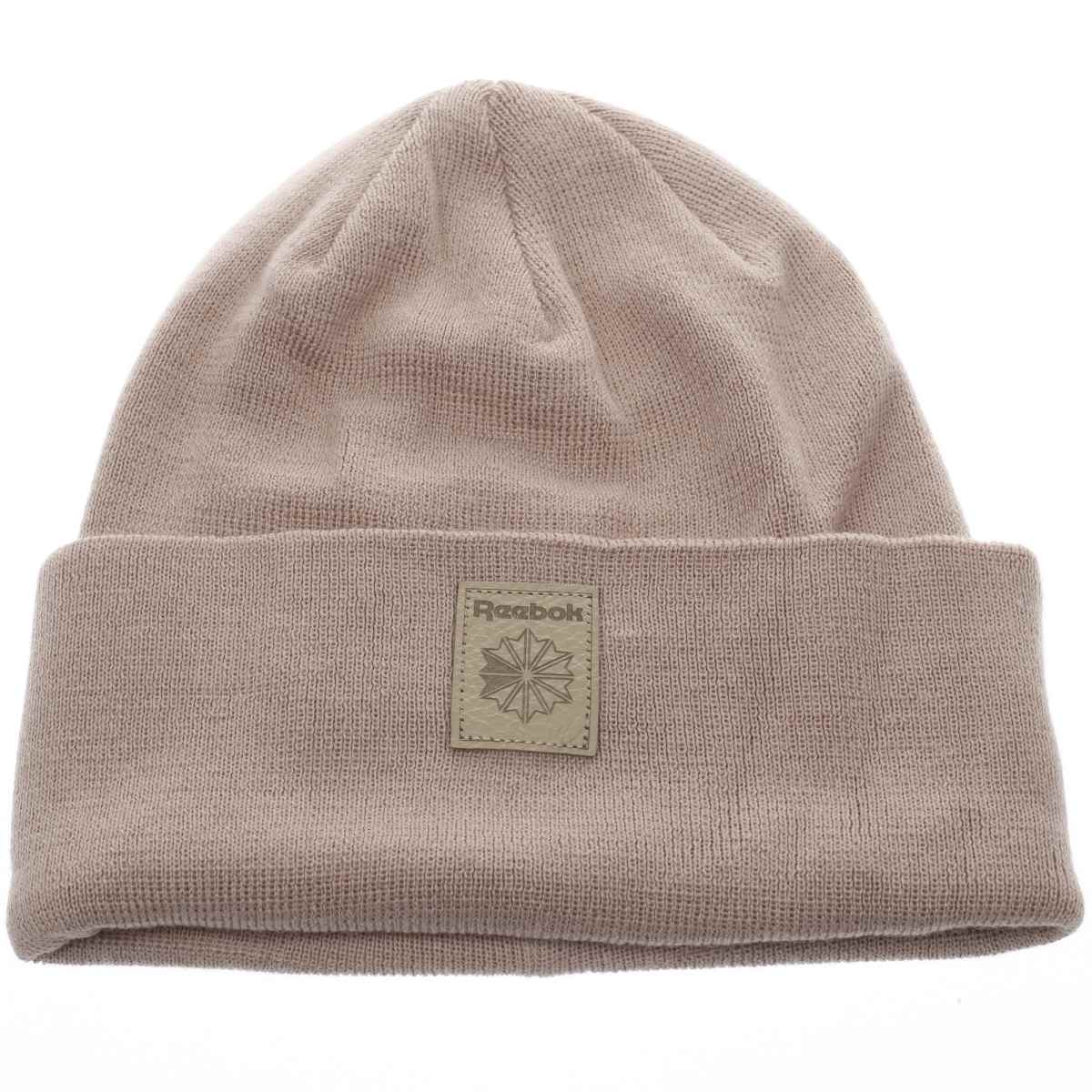reebok pale pink classic foundation beanie