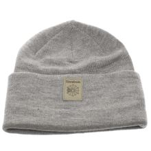 Reebok Light Grey Classic Foundation Beanie Caps and Hats