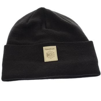 Reebok Black Classic Foundation Beanie Caps and Hats