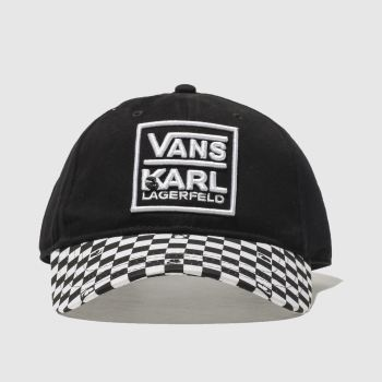 Vans Black Karl Lagerfeld Dugout Hat Caps and Hats
