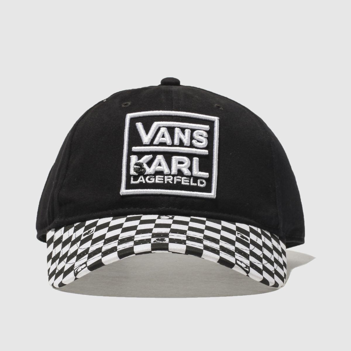 vans black & white karl lagerfeld dugout hat