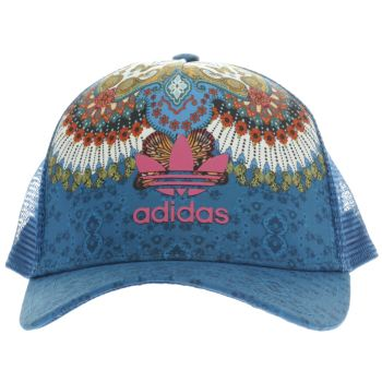 Adidas Navy Floral Cap Caps and Hats