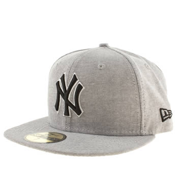New Era Grey New York Yankees 59fifty Caps and Hats