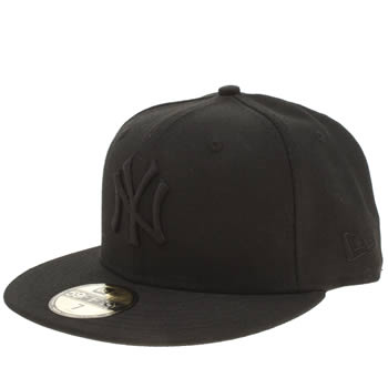 New Era Black 59fifty Black On Black Adults Hats